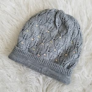 Justice Sequin Foldover Beanie Winter Hat